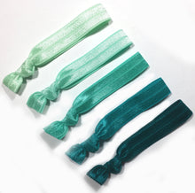 Green Ombre Package - Set of 5 Elastic Hair Bands - Wholesale