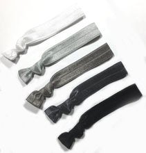 Gray Ombre Package - Set of 5 Hair Elastics - Wholesale