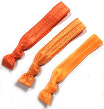 Orange Ombre Knotted Elastic Hair Ties