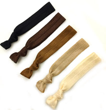 Neutral Elastic Hair Ties | Set of 5 Ponytail Holders
