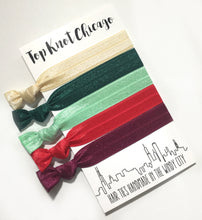Christmas Cheer Package - Set of 5 Hair Ties - Wholesale