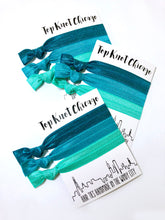 Teal Ombre Hair Elastics | Set of 3 Ponytail Holders