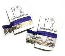 NOLA Bachelorette Party Hair Tie Favors | Set of 2 Hair Ties on a Personalized Card