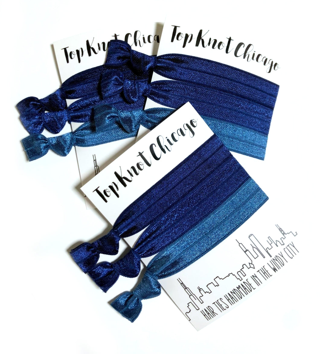 Navy Ombre Package - Set of 3 Hair Ties