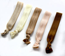 Light Neutral Package - Set of 5 Hair Elastics - Hair Ties - Top Knot Chicago