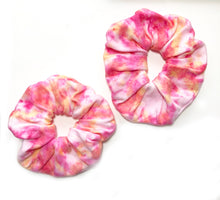 Pink, Yellow and Orange Oversized Scrunchie | Hand Dyed and Handmade Scrunchie