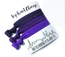 Purple Ombre Package - Set of 3 Hair Elastics - Hair Ties - Top Knot Chicago