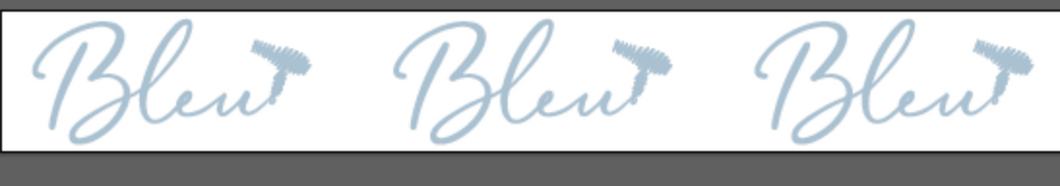 Copy of Custom Printed Hair Ties for Bleu - Bleu Logo