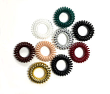 Variety Pack of Spiral Telephone Cord Hair Tie Package | Set of 10