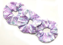 Purple and Teal Oversized Scrunchie | Hand Dyed and Handmade Scrunchie