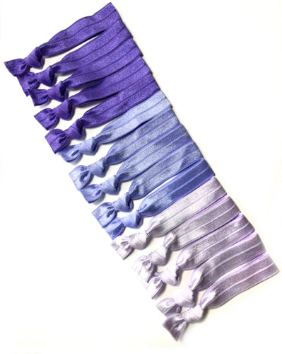 Amethyst Ombre Hair Elastics | Set of 15 Purple Hair Ties