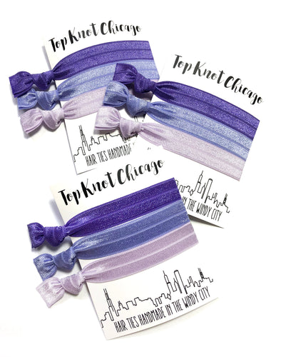 Amethyst Ombre Hair Elastics | Set of 3 Hair Ties