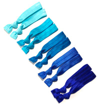 Blue Ombre Hair Elastics | Set of 10 Ponytail Holders