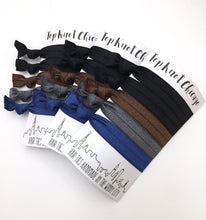 Dark Basics Package - Set of 5 Hair Bands - Hair Ties - Top Knot Chicago