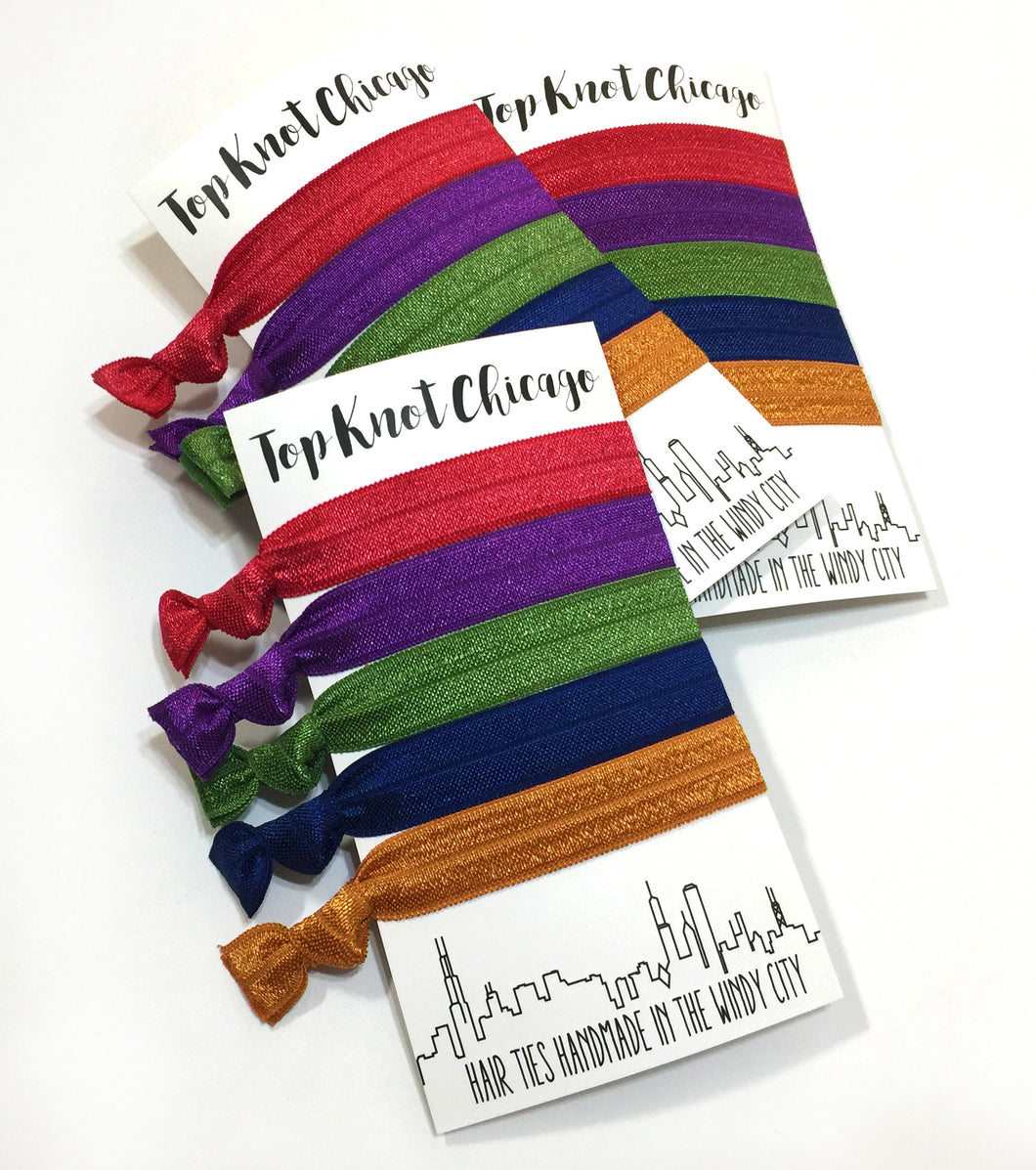 Fall Package - Set of 5 Hair Ties - Hair Ties - Top Knot Chicago