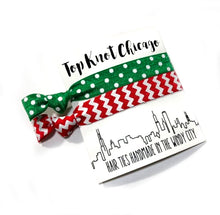 Christmas Hair Elastics - Holiday Gift Ideas | Dots and Chevron Package