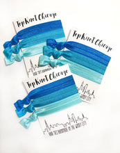Light Blue Ombre Hair Ties - Set of 3 Elastic Hair Ties