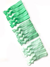 Mint Ombre Elastic Hair Ties | Set of 15 Ponytail Holders