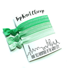 Mint Ombre Elastic Hair Ties - Wholesale