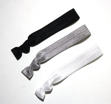 Monochrome Package - Set of 3 Hair Elastics - Hair Ties - Top Knot Chicago