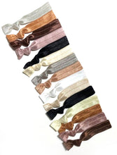 Neutral Elastic Hair Tie Grab Bag - Variety Pack of 15 Knotted Ponytail Holders