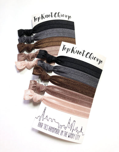 Neutral Elastic Ponytail Holders | Poised Hair Tie Package
