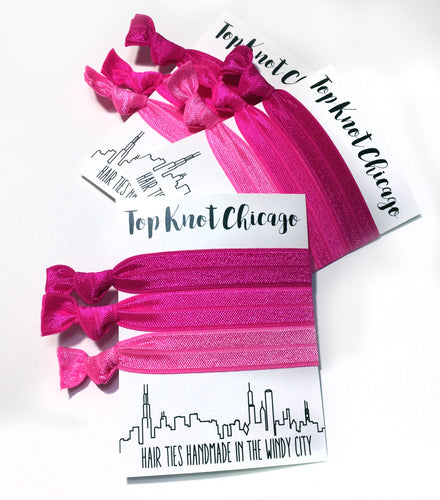Pink Ombre Package - Set of 3 Hair Ties - Hair Ties - Top Knot Chicago