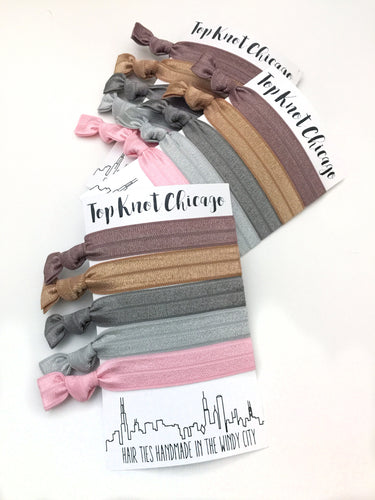 Posh Package - Set of 5 Hair Bands - Hair Ties - Top Knot Chicago