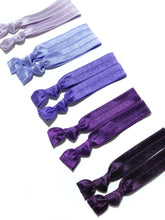Purple Ombre Elastic Hair Ties | Set of 10 Ponytail Holders