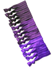 Purple Ombre Hair Elastics | Set of 15 Handmade Hair Ties