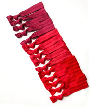 Red Ombre Elastic Hair Bands | Set of 15 Hair Ties