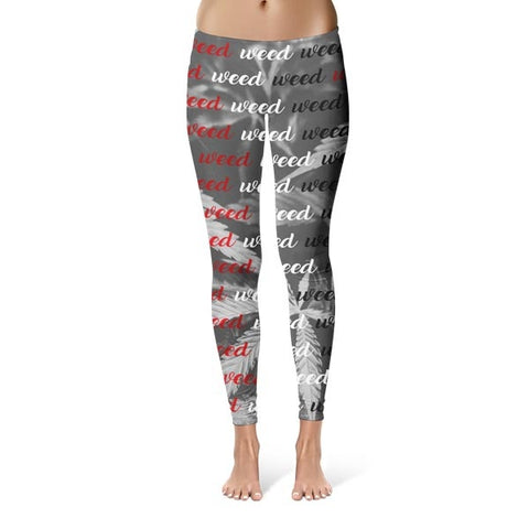 All Over Weed Leggings