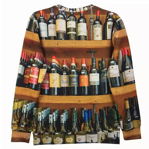 Wine Bottles Sweatshirt