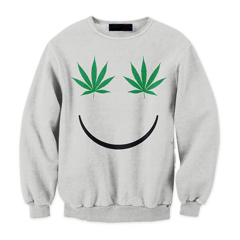 Smiley Weed Sweatshirt