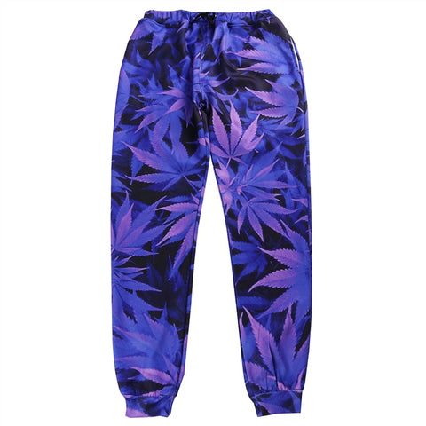 Purple Cannabis Pants