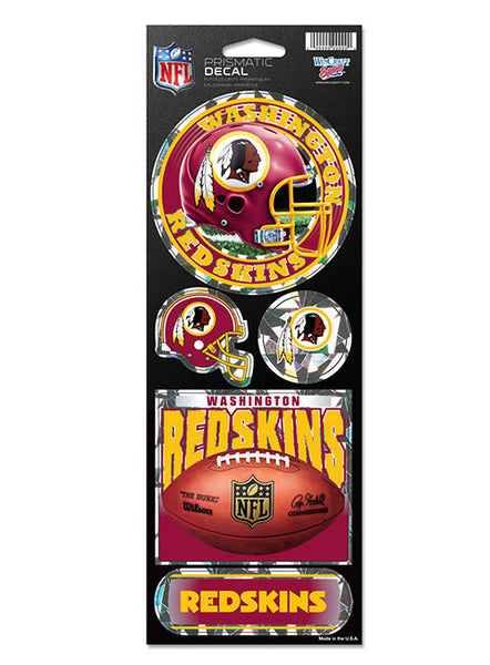 Redskins 4'' x 11'' Prismatic Decal