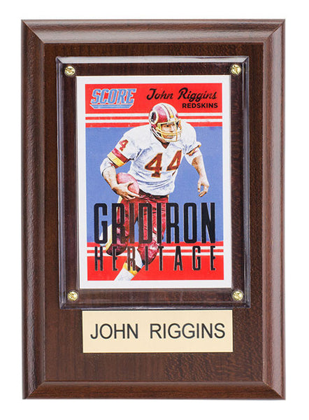 Redskins John Riggins 4'' x 6'' Plaque