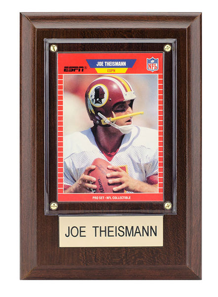 Redskins Joe Theismann 4'' x 6'' Plaque
