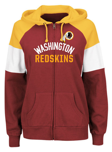Ladies Redskins Full Zip Hot Route Hooded Sweatshirt