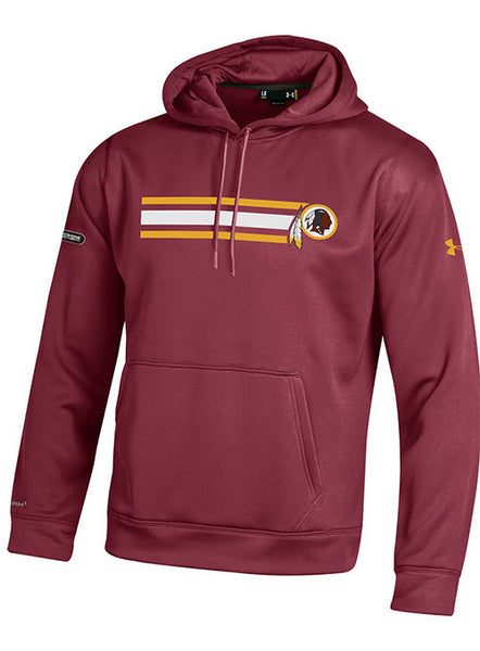 Under Armour Redskins NFL Combine Stripe Hooded Sweatshirt