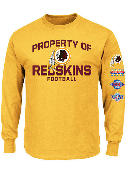 Property of Redskins 3-Time Super Bowl Champs T-Shirt