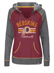 Ladies Redskins Buttonhook Hooded Sweatshirt