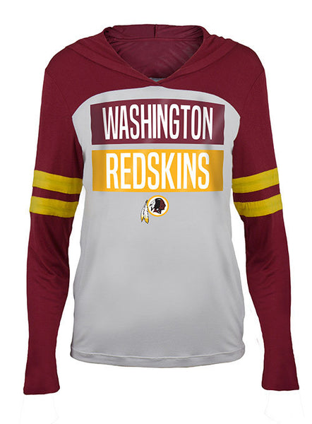 Ladies Redskins Lightweight Pullover Hooded T-Shirt