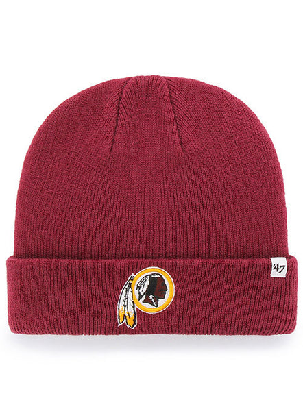 47 Brand Redskins Burgundy Raised Cuff Knit Hat