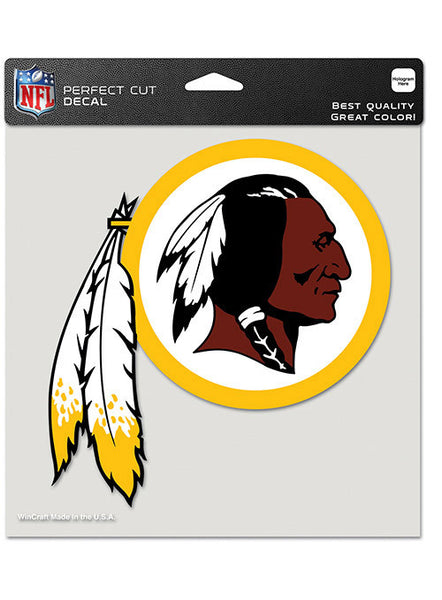 8'' X 8'' Die Cut Redskins Decal