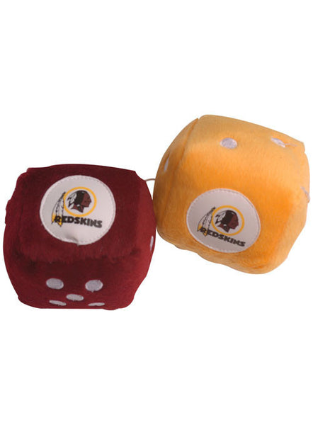 Redskins Fuzzy Dice