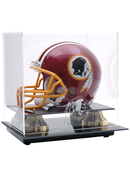 REDSKINS LOGO MINI HELMET DISPLAY CASE