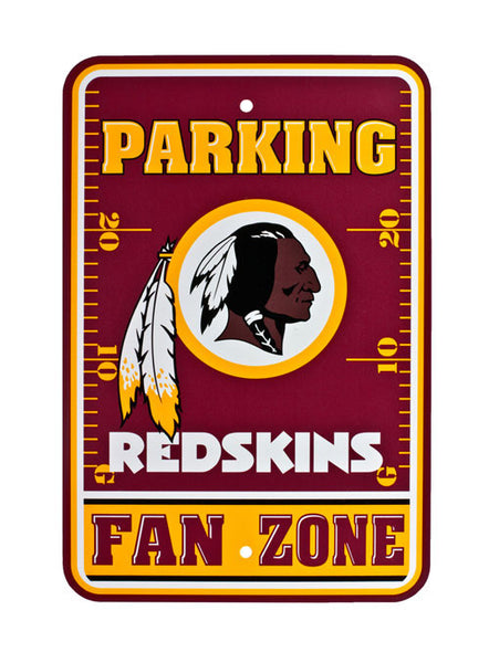 Redskins Parking Sign