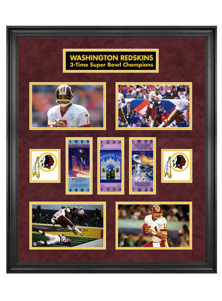 3x Super Bowl Champs Redskins Plaque