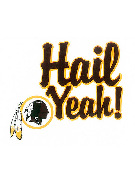 Redskins 3'' x 4'' Hail Yeah Decal